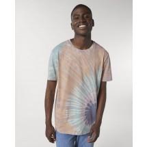 Unisex T-Shirt Creator Tie and Dye tie&dye teal monstera/lilac petal XS