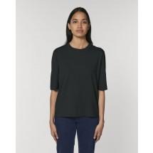 Damen T-Shirt Stella Fringer black XS