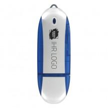 USB-Stick Oval 1GB - blau