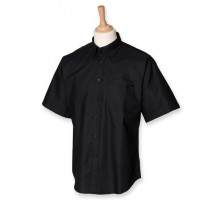 Classic Short Sleeved Oxford Shirt - Black