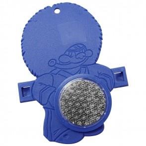 """Reflektor """"Fahrrad-Figur BÄR"""", blau"""