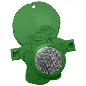 """Reflektor """"Fahrrad-Figur BÄR"""", grün"""