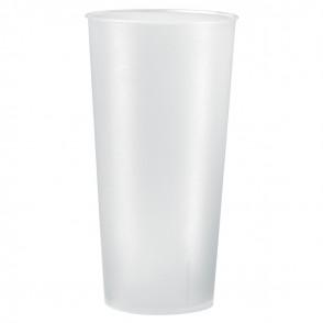 "Trinkbecher ""Mehrweg"" 0,5 l, transparent-milchig"