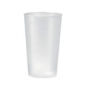 "Trinkbecher ""Mehrweg"" 0,4 l, transparent-milchig"