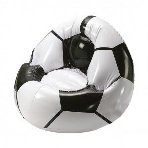 """Aufblasbarer Fußballsessel """"Big"""", weiß/schwarz"""