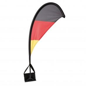 """Autofahne """"Windsegel"""", deutschlandfarben"""