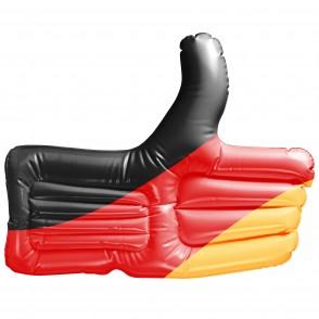 Aufblasbarer Daumen Deutschland, schwarz/rot/gelb