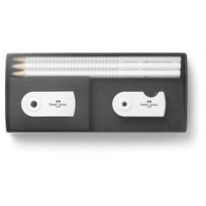 Set Alles um den Bleistift Mini White