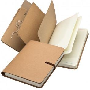 Notizbuch mit braunem Gummiband, 240 Seiten