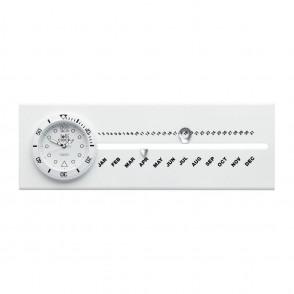 Uhr mit Kalender LOLLICLOCK-CALENDAR WHITE