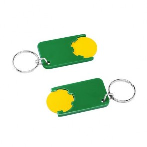 Chiphalter mit 1 Euro-Chip mit Schlüsselring