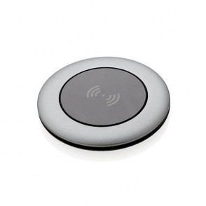 Aluminium 5W Wireless-Charger, grau