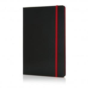 A5 Notizbuch mit farbigem Seitenrand