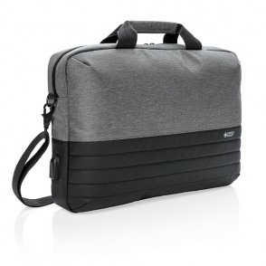"Swiss Peak RFID 15"" Laptoptasche, grau"