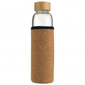 Vanilla Season® INDAUR Trinkflasche aus Borosilikatglas mit Schutzhülle