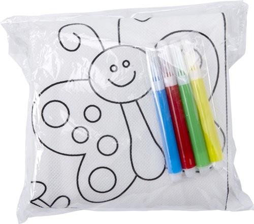 Polyester kinderschort om zelf in te kleuren
