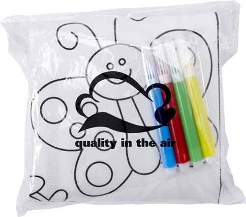 Polyester kinderschort om zelf in te kleuren, View 2