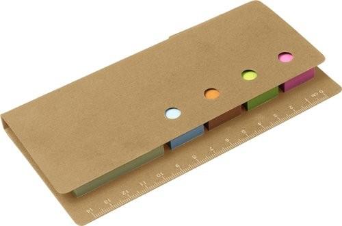 Kartonnen memoblaadjeshouder met liniaal, View 5