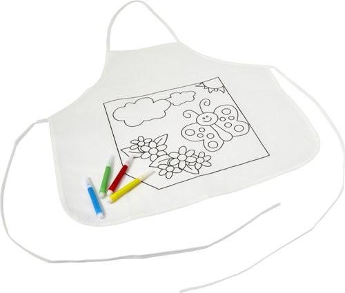 Polyester kinderschort om zelf in te kleuren, View 4