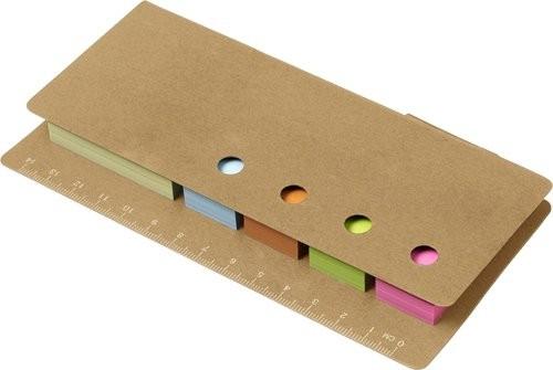 Kartonnen memoblaadjeshouder met liniaal, View 2