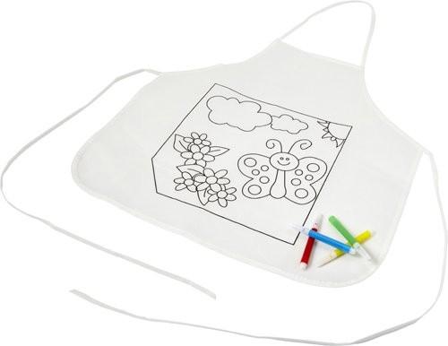 Polyester kinderschort om zelf in te kleuren, View 3