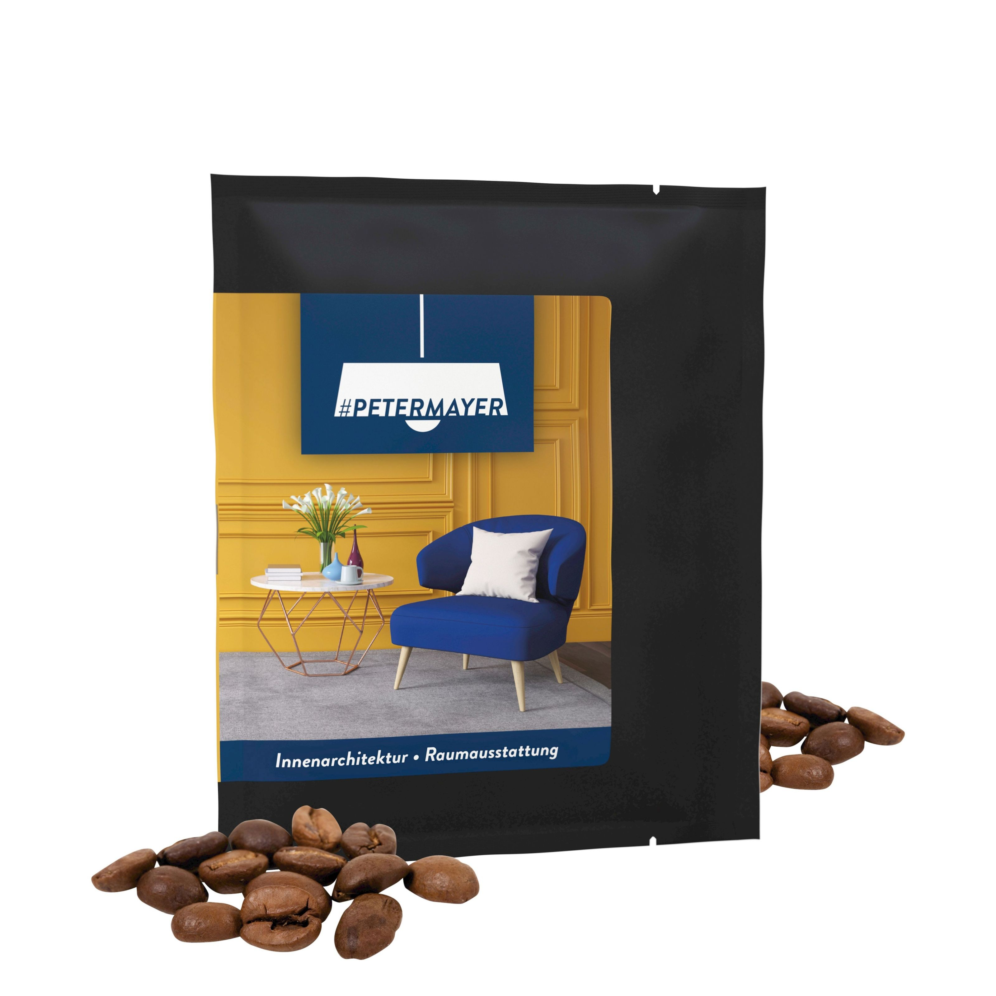 CoffeeBag - Bio Céo (cafeïnevrij) - Individueel Design, zwart