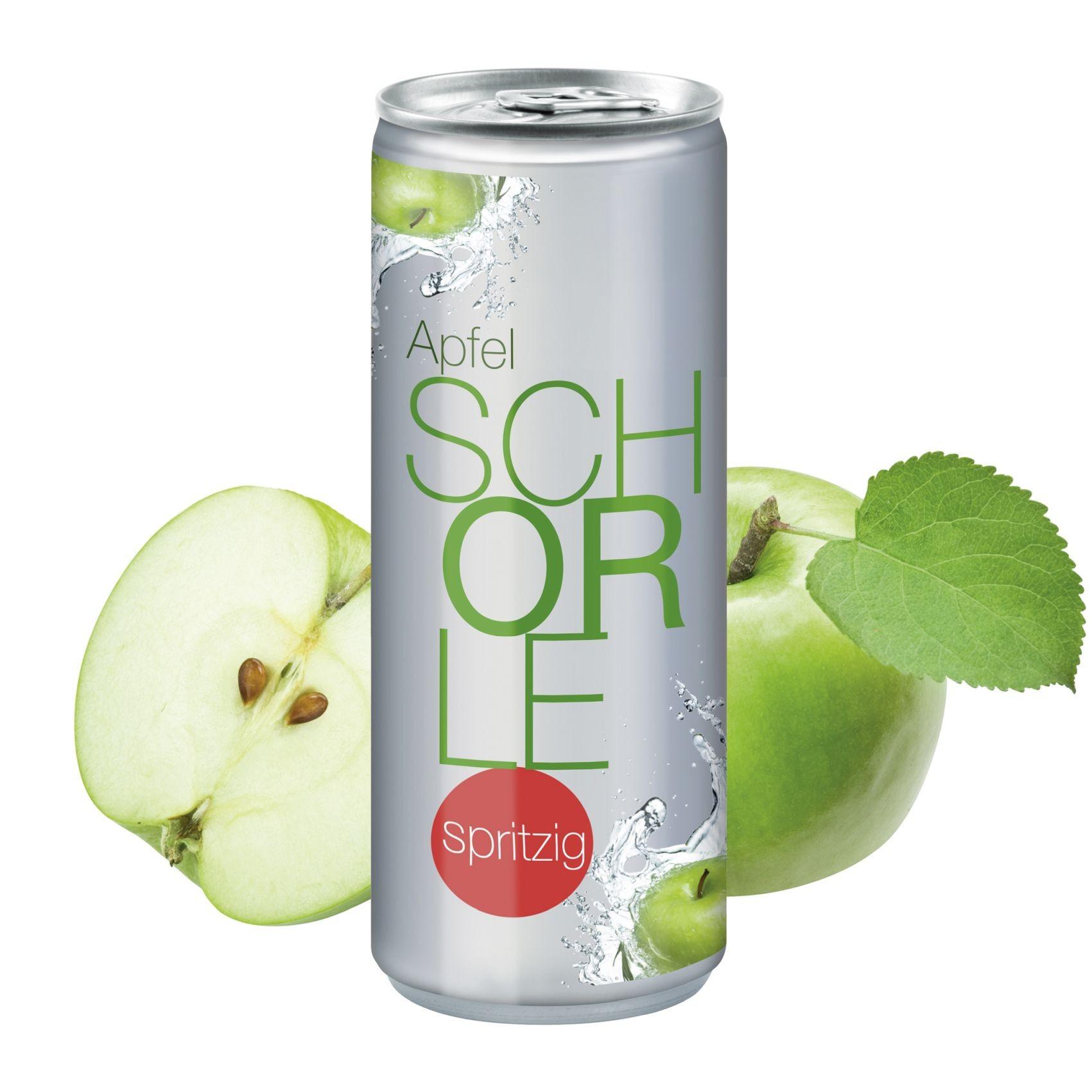 """Apfelspritzer """"sprankelend"""", 250 ml, Body Label transp (Alu Look)"""