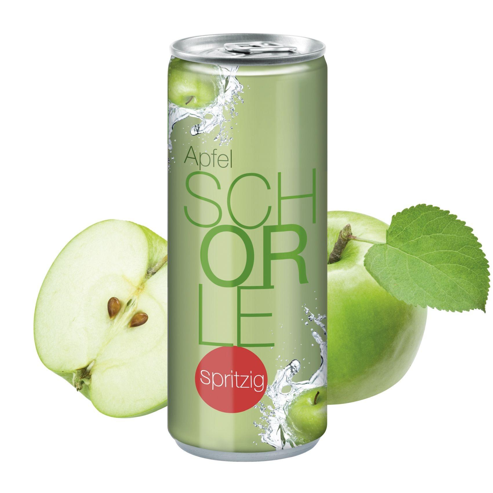 "Apfelspritzer ""sprankelend"", 250 ml, Fullbody transp"