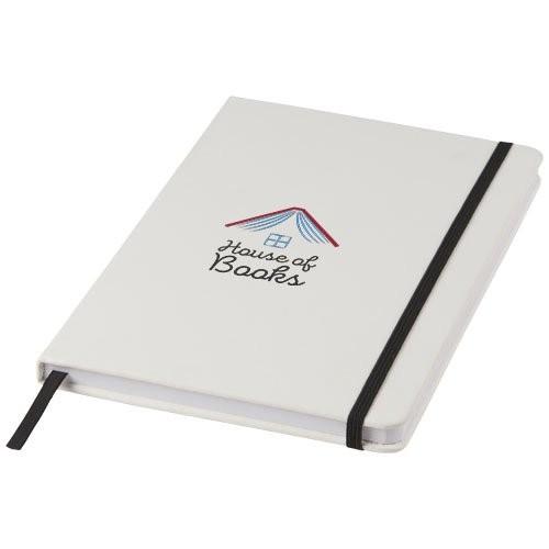 Witte A5 spectrum notitieboek met gekleurde sluiti