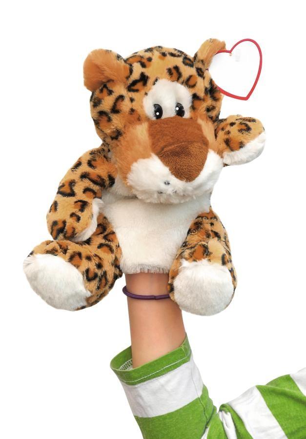 plush hand-puppet leopard Leevi