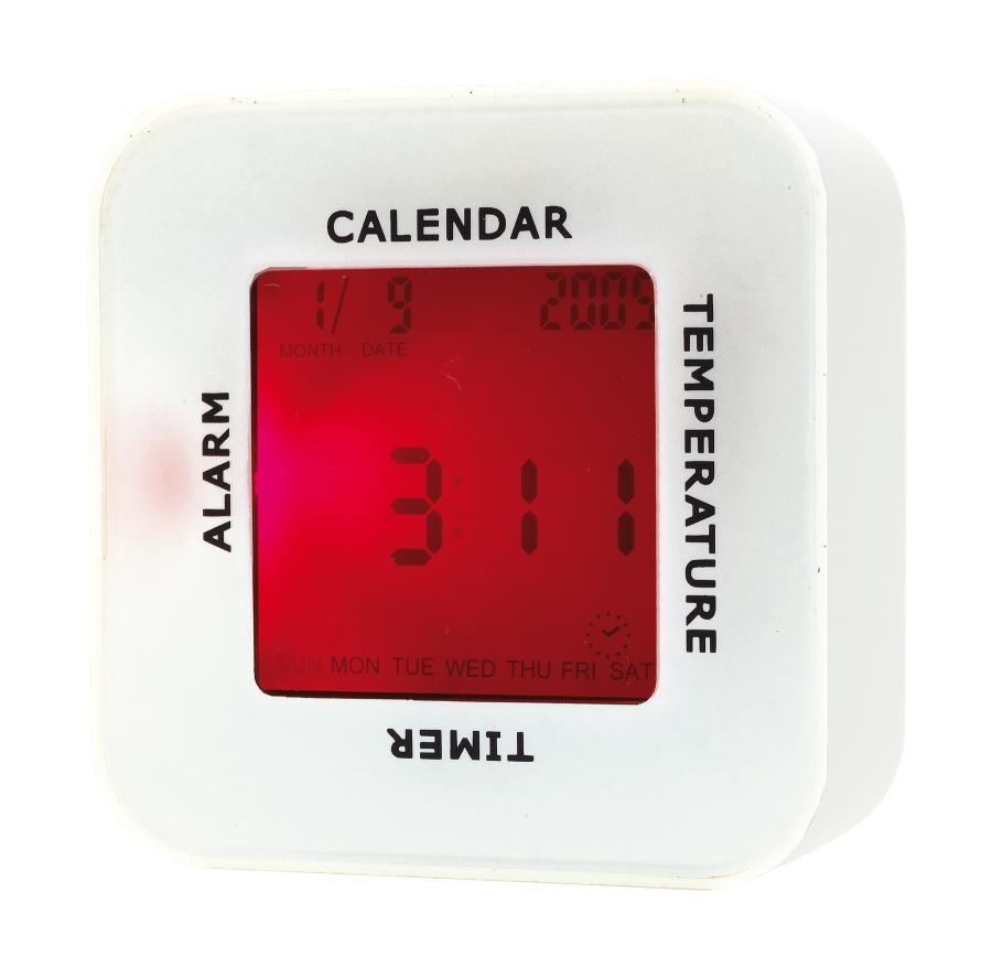 Table alarm clock 4 in 1 white