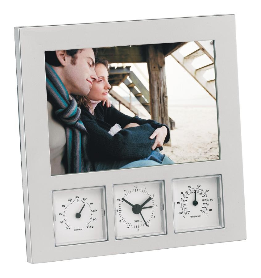 Photo frame/ weather st. Show, silver