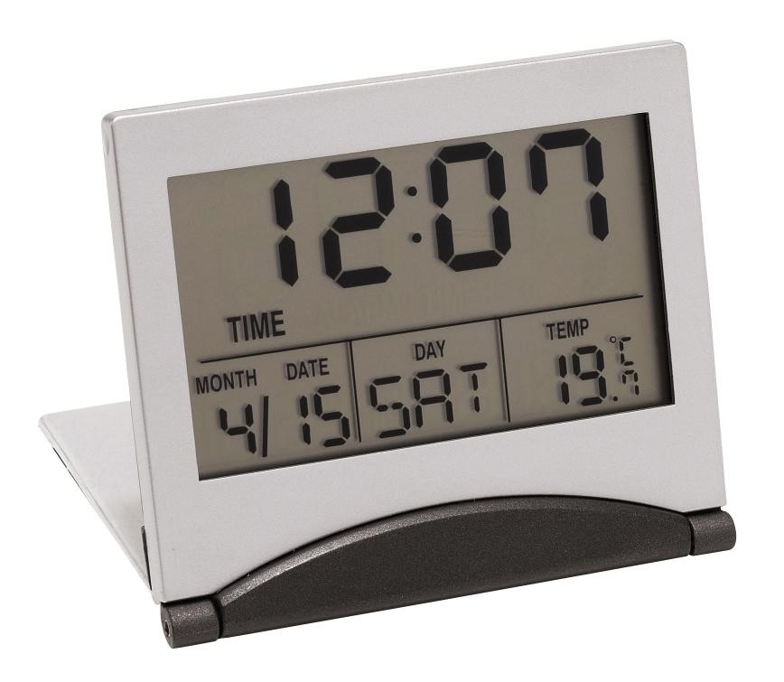 LCD alarmclock Aster, silver