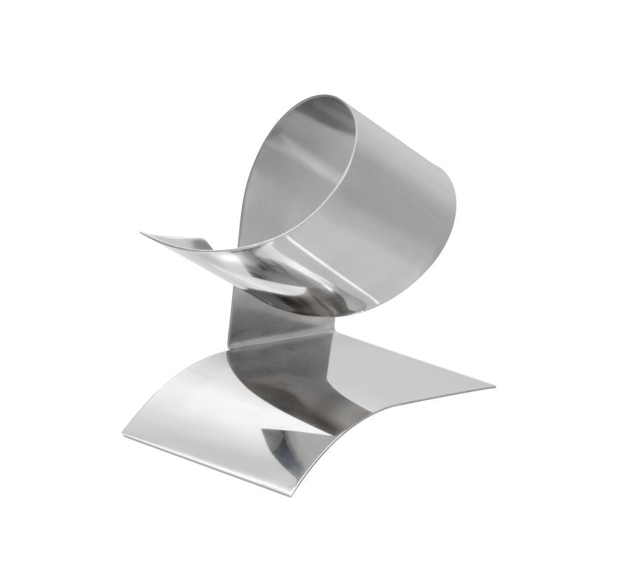 Wine bottle holder HELIX, silver