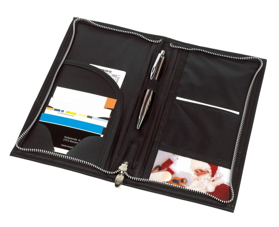 Travel passportholder HALMSTAD, black