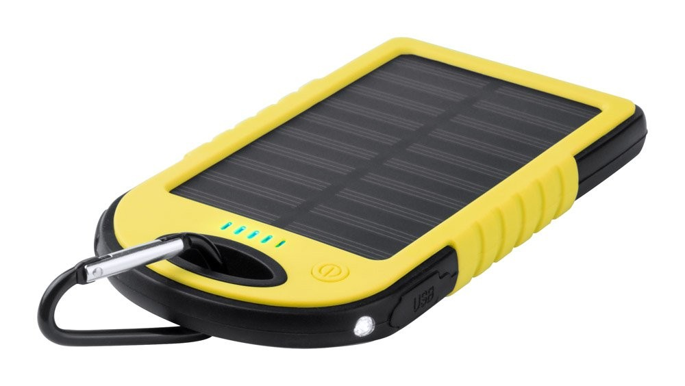 USB Power bank met zonne energie lader ''Lenard''