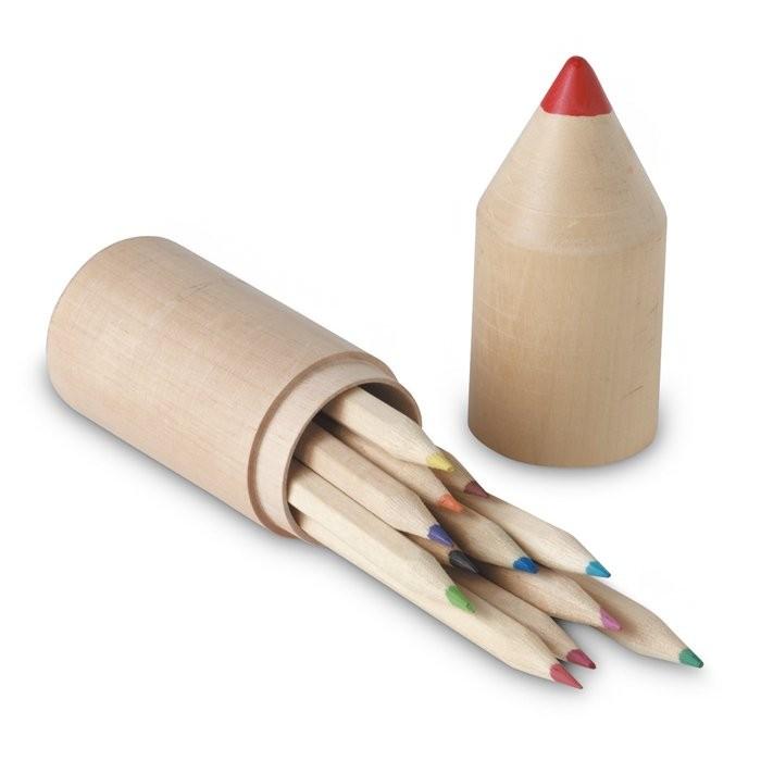 Kleurpotloden in houten doos COLORET