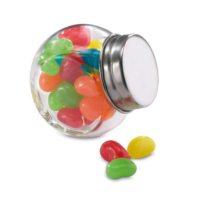 Glazen pot gevuld met snoepjes BEANDY, View 2