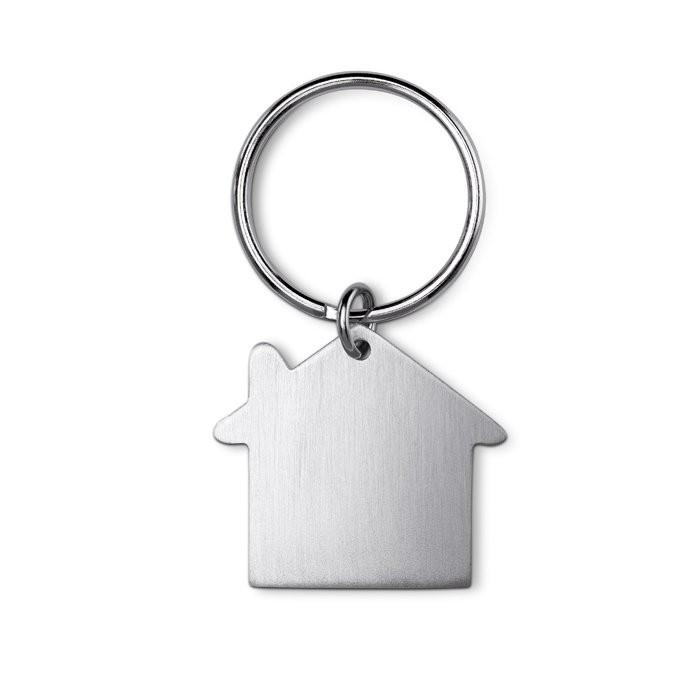 Metalen sleutelhanger huis HEIM
