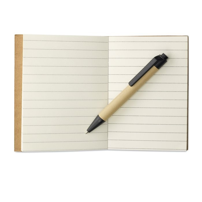 Notitieblok en gerecyclede pen CARTOPAD, View 2