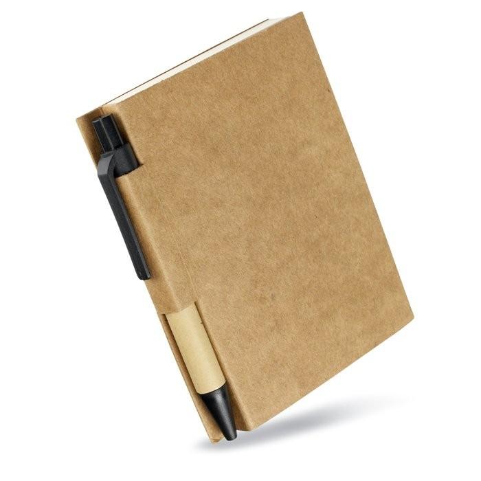 Notitieblok en gerecyclede pen CARTOPAD, View 4