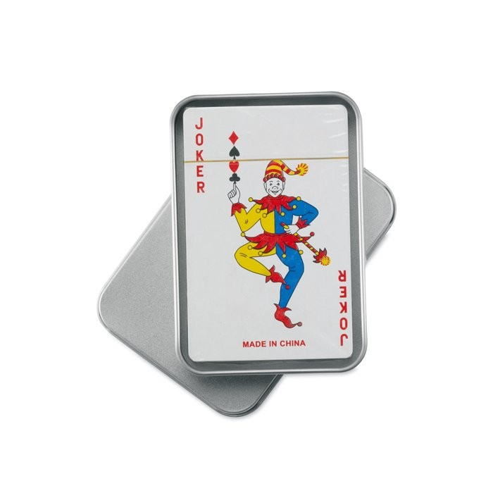 Speelkaarten in blikken doosje AMIGO