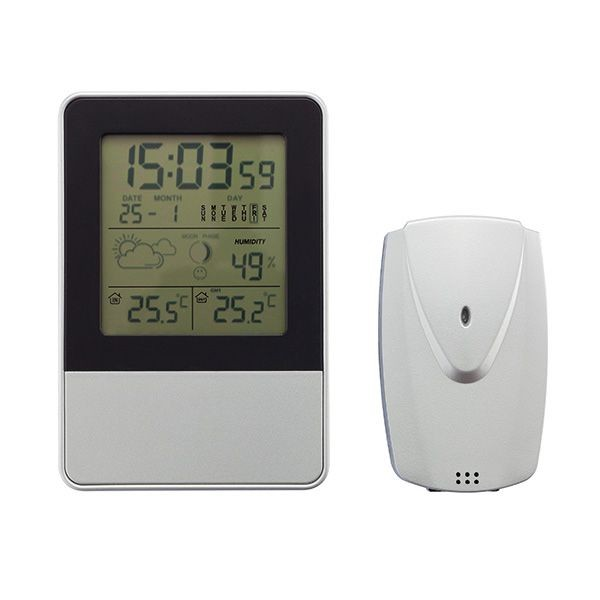 Indoor/outdoor weerstation, zilver, View 3