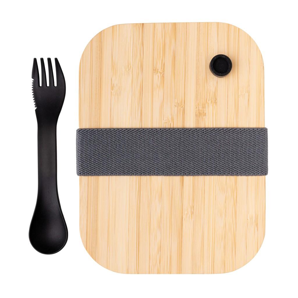 Glazen lunchbox met bamboe deksel