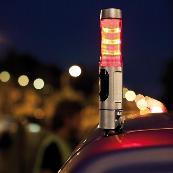 Veiligheidszaklamp met noodhamer, zilver, View 5