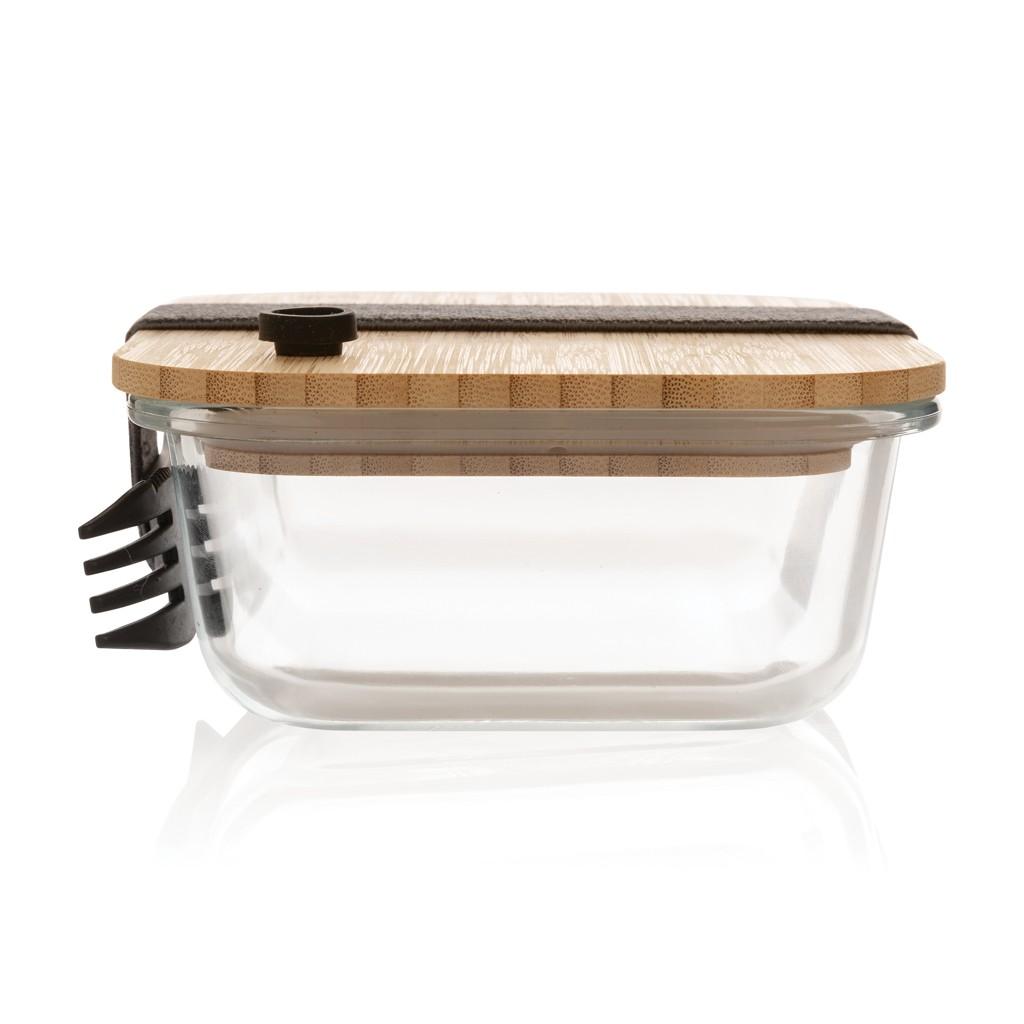 Glazen lunchbox met bamboe deksel, View 3