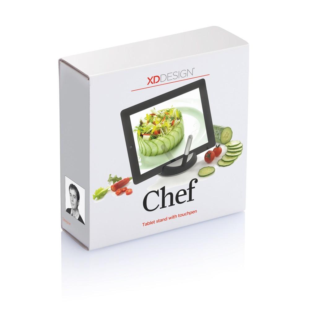 Chef tablet standaard met touchpen, zwart/zilverkleurig, View 11