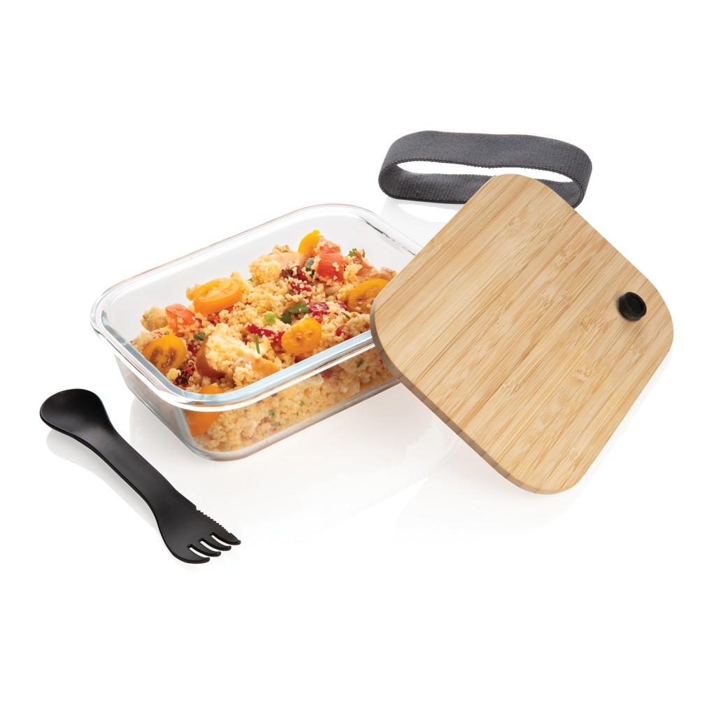 Glazen lunchbox met bamboe deksel, View 4