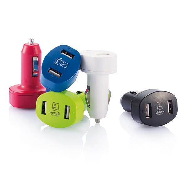 Duo auto USB oplader