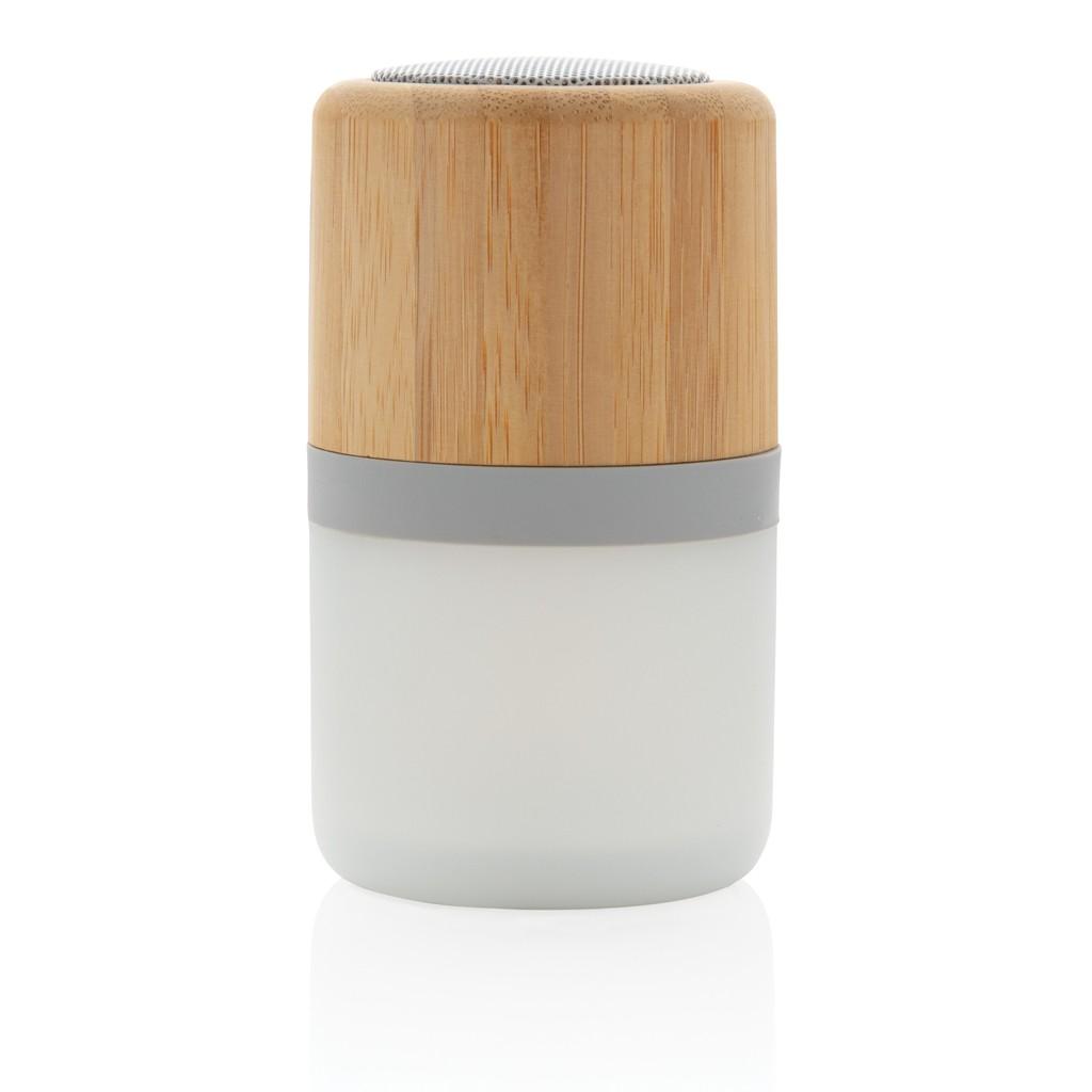 Draadloze bamboe 3W speaker met sfeerlicht, View 6